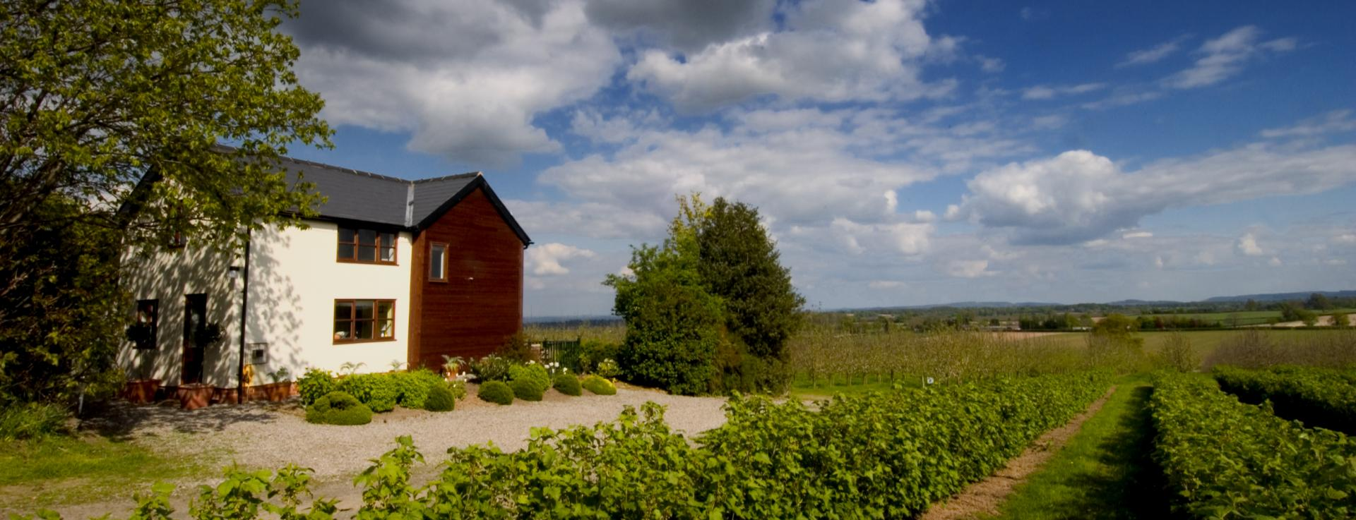 Field holiday cottage