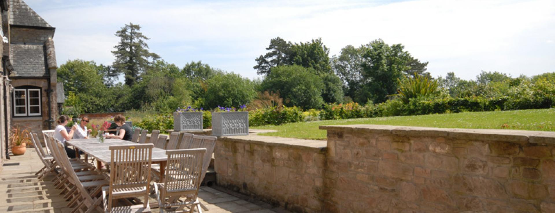 Outdoor terrace at The Colloquy